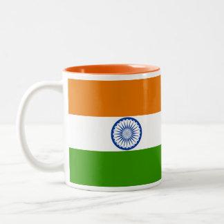 Taza india de la bandera