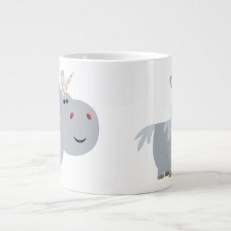 Taza inescrutable linda del jumbo del unicornio taza grande