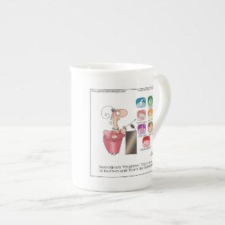 Taza INFERIOR en abril McCallum del dibujo animado Tazas De Porcelana