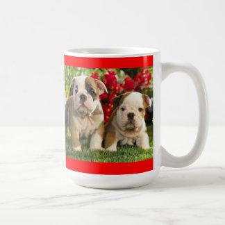Taza inglesa de la taza de café del perro de perri