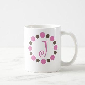 "Taza inicial ""J "" de Dotz"