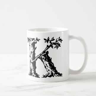 Taza inicial - letra 'K