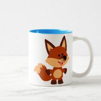 Taza inocente linda del Fox del dibujo animado
