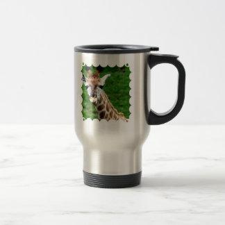 Taza inoxidable de la foto de la jirafa