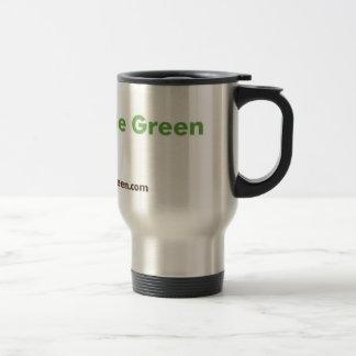 Taza inoxidable verde de lujo del viaje