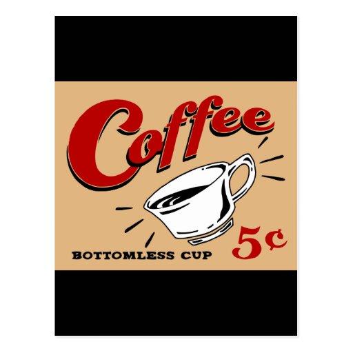 Taza insondable del café postal