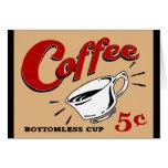 Taza insondable del café tarjeta
