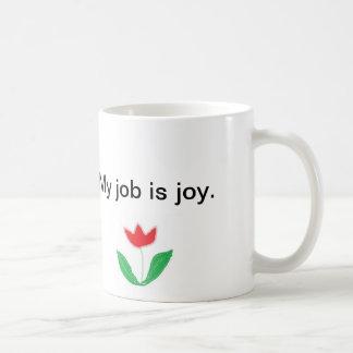 Taza inspirada - alegría con la flor