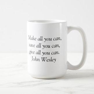 Taza inspirada - cita de John Wesley
