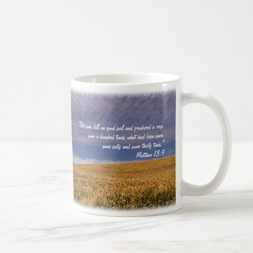 Taza inspirada de la promesa de la cosecha