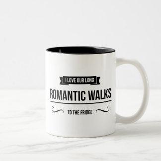 Taza inspirada de los paseos románticos