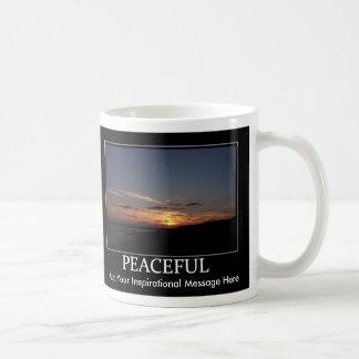Taza inspirada de motivación pacífica w cust