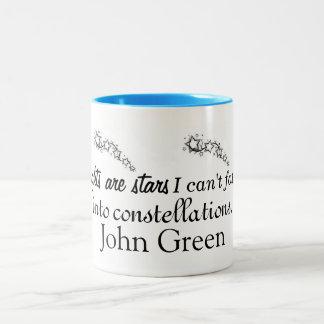 Taza inspirada verde de Juan
