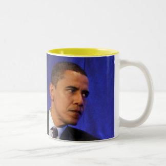 Taza interior del amarillo de presidente Barack