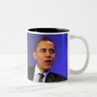 Taza interior del negro de presidente Barack Obama