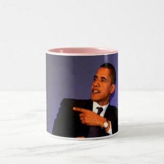 Taza interior del rosa de presidente Barack Obama