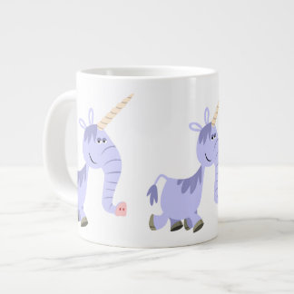 Taza inusual linda del jumbo del unicornio del taza grande