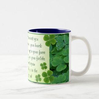 Taza irlandesa de la bendición