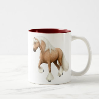 Taza irlandesa del caballo de la mazorca