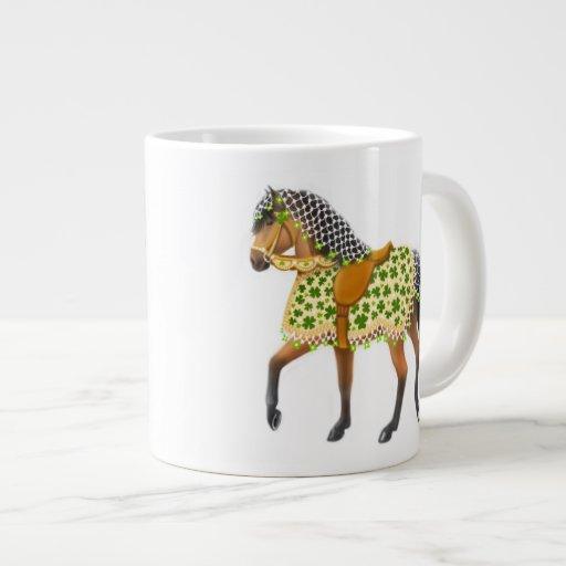 Taza irlandesa del jumbo del caballo del desfile d taza grande