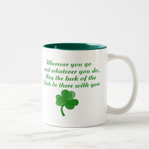 Taza irlandesa del poema