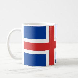Taza islandesa de la bandera