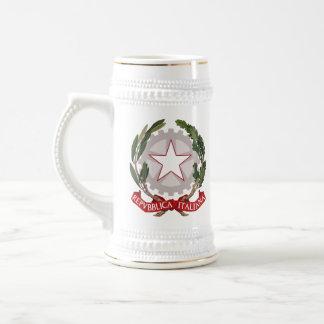 Taza italiana de Stein del escudo de armas