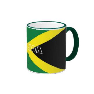 Taza jamaicana del recuerdo de la bandera de Jamai