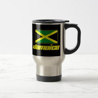 Taza jamaicana del viaje del negro de la bandera