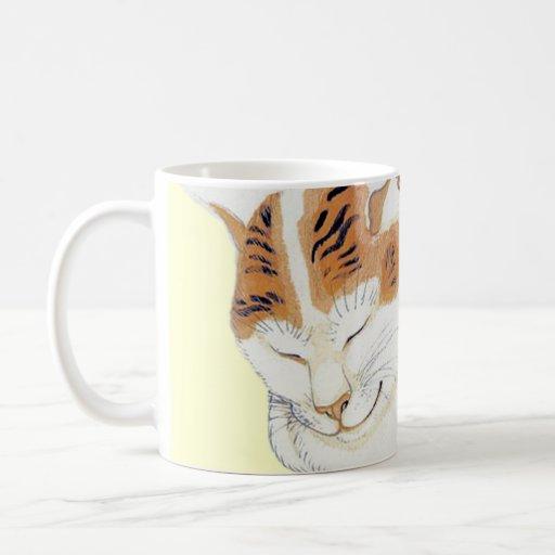 Taza japonesa del regalo de la cita del gato de ca