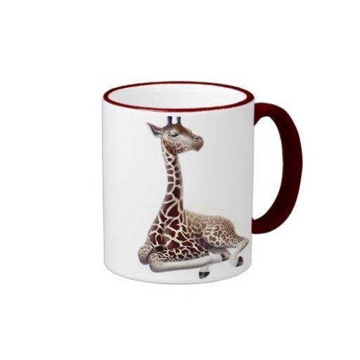 Taza joven del campanero de la jirafa