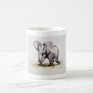 Taza joven del elefante