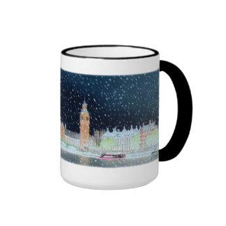 Taza - la abadía y Big Ben de Westminster