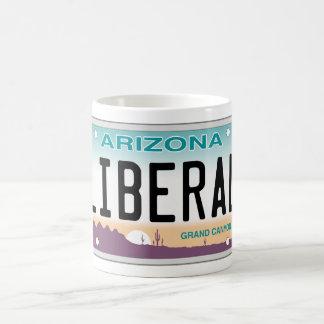 Taza liberal de la placa de vanidad de Arizona