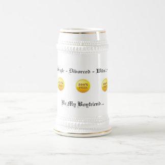 Taza libre del 100% Stein (oro blanco) 18 onzas