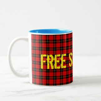 Taza libre del tartán de Escocia de la