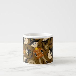 Taza linda de Expresso del vaquero del poncho Tazas Espresso