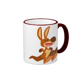 Taza linda de Joey del canguro del dibujo animado