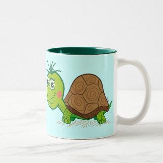 Taza linda de la tortuga