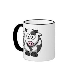 Taza linda de la vaca