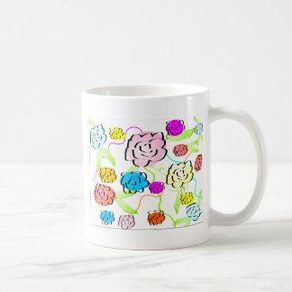 Taza linda de las flores