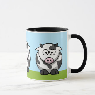 Taza linda de las vacas