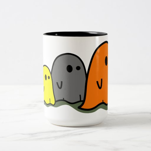 Taza linda de los fantasmas de Halloween