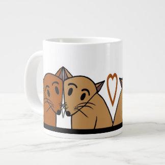 Taza linda de los gatos taza grande