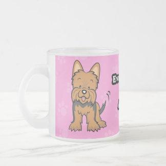 Taza linda de Yorkie del perro del dibujo animado