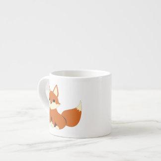 Taza linda del café express del amor del zorro taza espresso