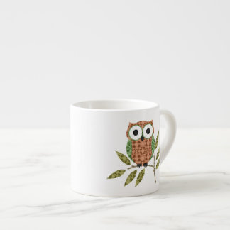 Taza linda del café express del búho de pitido taza espresso