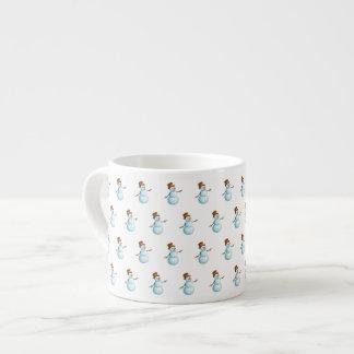 Taza linda del café express del muñeco de nieve taza espresso