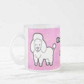 Taza linda del caniche del perro del dibujo