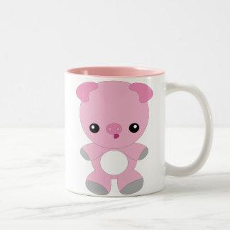 Taza linda del cerdo del bebé